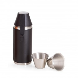Flask Black Leather