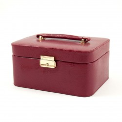 Lizard Leather Jewelry Case Red