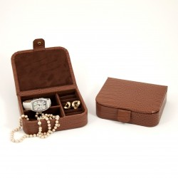 Mens Jewelry Case Brown