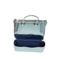Laser Cut Gym to Work Tote Gray