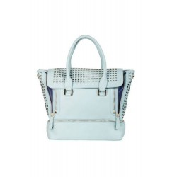 Laser Cut Gym to Work Tote Light Blue
