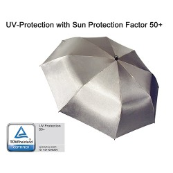 EuroSCHIRM Swing Handsfree Umbrella, Silver Uv-Protection 50+